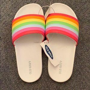 Slides Girls Rainbow Slip On Sandals